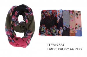 INFINITY SCARF GRADIENT FLORAL 1