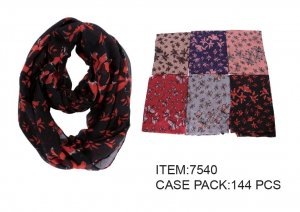 INFINITY SCARF FLORAL PATTERN 12