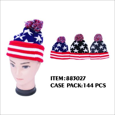 MEN WINTER HAT WITH STAR DESIGN