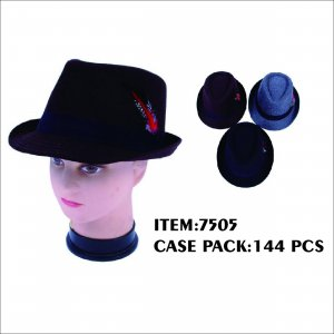 FEDORA HAT W FEATHER DETAIL 144/