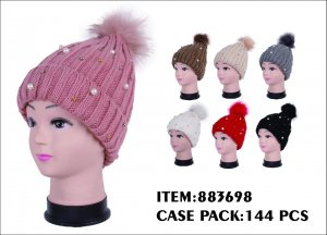 LADIES HAT WITH PEARL 12DZ/CTN
