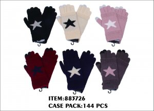 LADIES GLOVES WITH STAR PRINTED