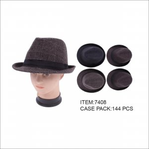 PLAID FEDORA HAT 144/CTN 1403109