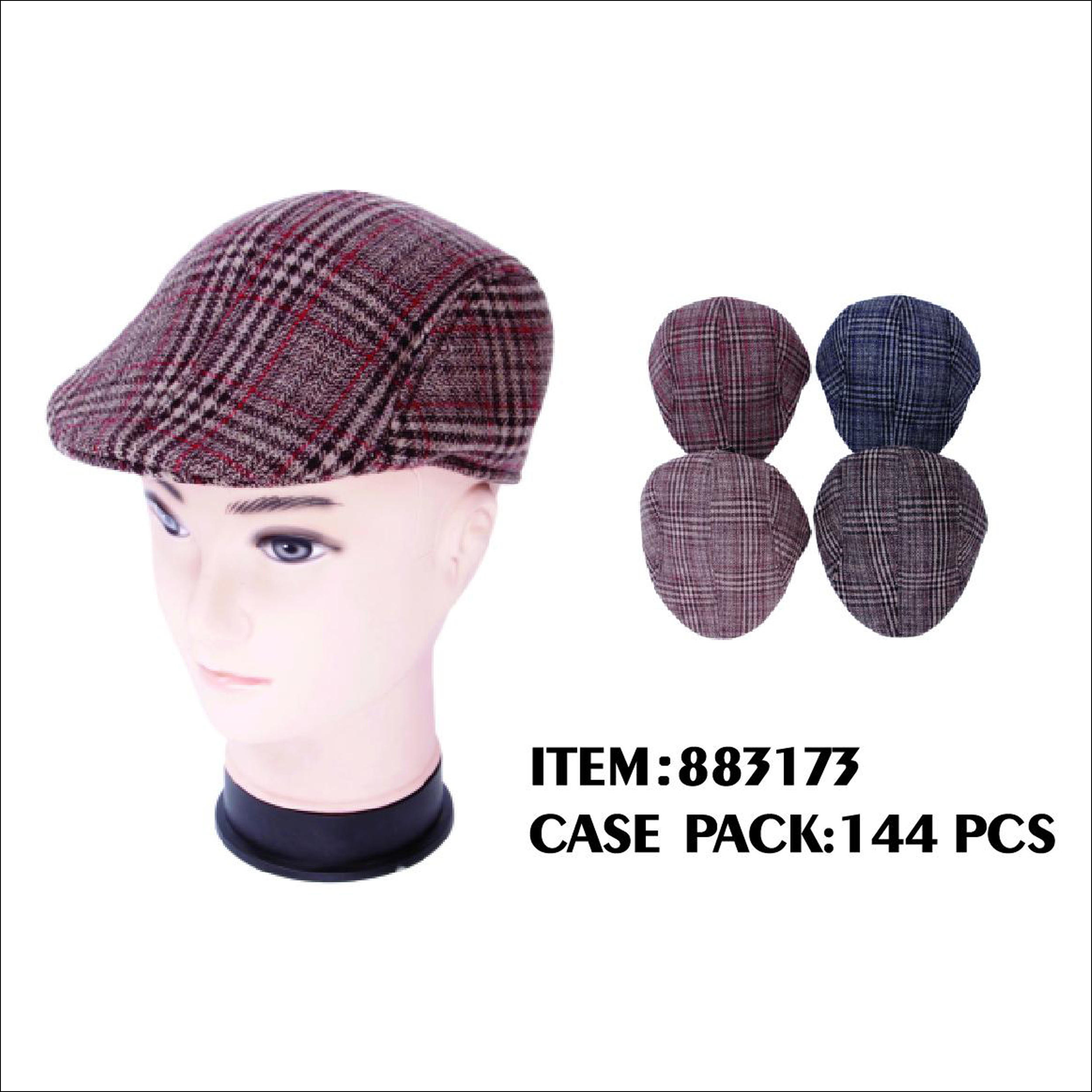 d65df318a06 Mens WT Flat Caps   QB TRADING INC. General Merchadise Wholesale ...